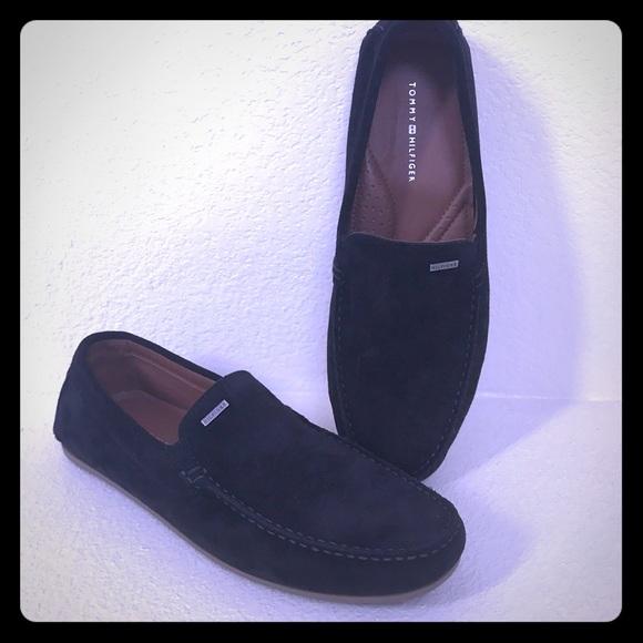 tommy hilfiger black loafers